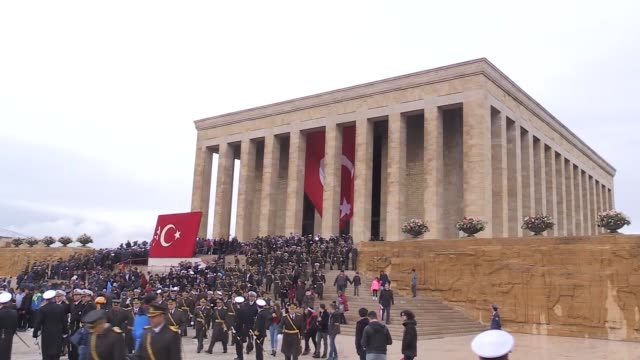 Turkish citizens visit Anitkabir the mausoleum of the founder of Turkish Republic Mustafa Kemal Ataturk to celebrate Republic Day on its 94th...