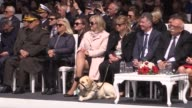 Turkish Culture and Tourism Minister Nabi Avci British Ambassador to Turkey Richard Moore and his wife Maggie Moore accompanied by her guide dog Star...