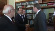 Turkish Culture and Tourism Minister Nabi Avci meets Muslim Bosniak member of the tripartite Presidency of Bosnia and Herzegovina Bakir Izetbegovic...