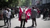 Turkish demonstrators staged a protest in front of the Prime Ministers office in central Ankara on Tuesday CLEAN Turkish demonstrators protest in...