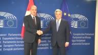 Turkish Deputy Prime Minister Numan Kurtulmus meets President of the European Parliament Antonio Tajani and European Commission First VicePresident...