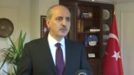 Turkish Deputy Prime Minister Numan Kurtulmus speak about decision of PACE [the Parliamentary Assembly of the Council of Europe] about to monitor...