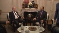 Turkish Foreign Minister Feridun Sinirlioglu Foreign Minister of Qatar Khalid bin Mohammad Al Attiyah and Saudi Arabia Foreign Minister Adel bin...