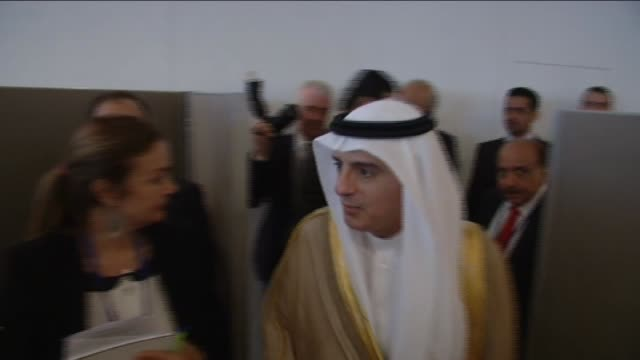 Turkish Foreign Minister Feridun Sinirlioglu meets with Saudi Arabia's Foreign Minister Adel alJubeir in New York United States on September 29 2015