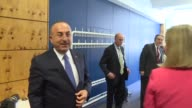 Turkish Foreign Minister Mevlut Cavusoglu and High Representative of the European Union for Foreign Affairs and Security Policy Federica Mogherini...