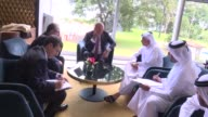 Turkish Foreign Minister Mevlut Cavusoglu holds a meeting with Qatari State Minister for Foreign Affairs Soltan bin Saad AlMuraikhi on the sidelines...