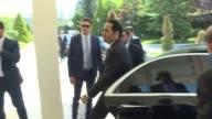 Turkish Foreign Minister Mevlut Cavusoglu meets his Qatari counterpart Mohammed bin Abdulrahman Al Thani on July 14 2017 in Ankara Turkey