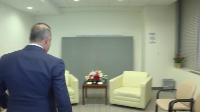 Turkish Foreign Minister Mevlut Cavusoglu meets Lebanese Foreign Minister Gebran Bassil in New York United States on September 19 2017