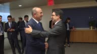 Turkish Foreign Minister Mevlut Cavusoglu meets Minister of Foreign Affairs and International Cooperation of Morocco Nasser Bourita in New York...