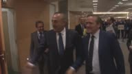 Turkish Foreign Minister Mevlut Cavusoglu meets with Foreign Minister of Denmark Anders Samuelsen in Brussels Belgium on December 6 2016