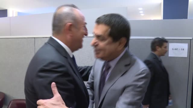 Turkish Foreign Minister Mevlut Cavusoglu meets with High Representative for the United Nations Alliance of Civilizations Nassir Abdulaziz AlNasser...