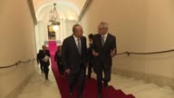 Turkish Foreign Minister Mevlut Cavusoglu meets with Italian Prime Minister Paolo Gentiloni in Rome Italy on May 24 2017