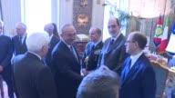 Turkish Foreign Minister Mevlut Cavusoglu meets with Italian President Sergio Mattarella in Rome Italy on May 24 2017