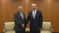 Turkish Foreign Minister Mevlut Cavusoglu meets with Second Minister of Foreign Affairs and Trade of Brunei Lim Jock Seng within the 50th Association...
