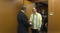 Turkish Foreign Minister Mevlut Cavusoglu meets with Secretary of Foreign Affairs of Philippines Alan Peter Cayetano within the 50th Association of...