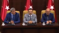 Turkish Interior Minister Selami Altinok Turkish Justice Minister Kenan Ipek and Turkish Health Minister Mehmet Muezzinoglu hold a press conference...