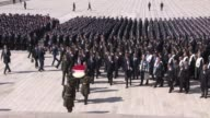Turkish Interior Minister Suleyman Soylu accompanied with Turkish National Police Academy students visits Anitkabir Mausoleum of the founder of...
