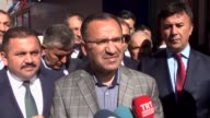 Turkish Justice Minister Bekir Bozdag speaks to reporters in Yozgat Turkey on March 26 2017 The Turkish justice minister on Sunday criticized the...