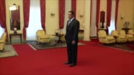 Turkish Minister of Economy Nihat Zeybekci meets with President of Ethiopia Mulatu Teshome at the National Palace in Addis Ababa Ethiopia on December...