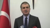 Turkish Minister of European Union Affairs Omer Celik speak about decision of PACE [the Parliamentary Assembly of the Council of Europe] about to...