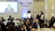 Turkish Minister of Foreign Affairs Mevlut Cavusoglu attends 9th Ambassadors Conference in Ankara Turkey on January 14 2017 Cavusoglu delivers a...