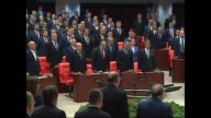 Turkish parliament's 25th term oathtaking ceremony of the newlyelected members of Turkish parliament is held in capital Ankara Turkey on June 23 2015