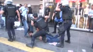 Turkish police arrest several dozen demonstrators and use tear gas to disperse protesters in Ankara on Sunday as people came out to rally in support...