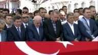 Turkish President Recep Tayyip Erdogan 11th former President Abdullah Gul HE İsmail Kahraman Speaker of the Grand National Assembly of Turkey Former...