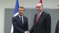 Turkish President Recep Tayyip Erdogan and his French counterpart Emmanuel Macron hold a meeting on the sidelines of the 72nd United Nations General...