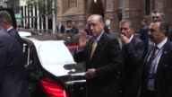 Turkish President Recep Tayyip Erdogan arrives at the Plaza Hotel to attend the Bloomberg Global Business Forum in New York USA on September 20 2017