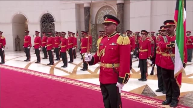Turkish President Recep Tayyip Erdogan arrives Kuwait for his officials visits on May 09 2017 He is officially welcomed by Kuwait Emir Shaikh Sabah...