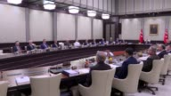 Turkish President Recep Tayyip Erdogan chairs National Security Council meeting at the presidential complex in Ankara Turkey on July 17 2017 Turkish...