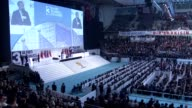 Turkish President Recep Tayyip Erdogan delivers a speech at the 3rd extraordinary congress of the ruling Justice and Development Party in Ankara...