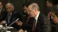 Turkish President Recep Tayyip Erdogan meets with Chinese President Xi Jinping and his delegation within the G20 Turkey Leaders Summit on November 14...