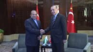 Turkish President Recep Tayyip Erdogan meets with Prime Minister of Pakistan Nawaz Sharif in Beijing China on May 13 2017 Turkish President Recep...