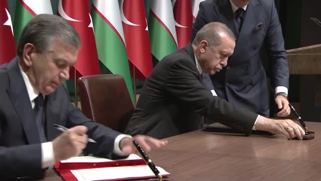 Turkish President Recep Tayyip Erdogan on October 25 2017 hailed Uzbek President Shavkat Mirziyoyev's official visit to Turkey the first by a top...