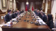 Turkish President Recep Tayyip Erdogan receives Crispin Blunt chairman of the British Commons Foreign Affairs committee and his accompanying...