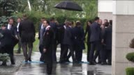 Turkish Prime Minister Ahmet Davutoglu arrives for an executive board meeting of his Justice and Development Party at the AK Party headquarters in...