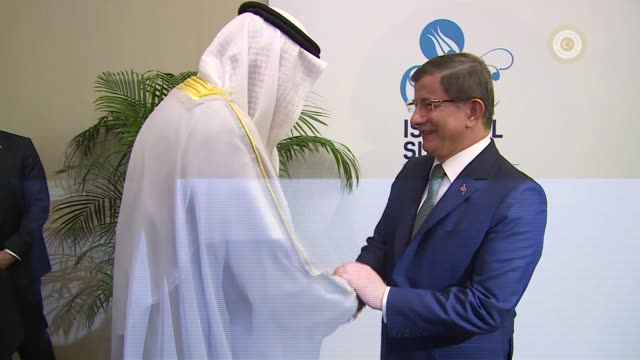 Turkish Prime Minister Ahmet Davutoglu hosts a lunch in honor of heads of states of the OIC countries participating in the 13th Organization of...