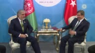 Turkish Prime Minister Ahmet Davutoglu meets with Afghanistan Chief Executive Abdullah Abdullah on the sidelines of the 13th Organization of Islamic...
