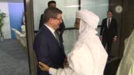 Turkish Prime Minister Ahmet Davutoglu meets with Niger Prime Minister Brigi Rafini on the sidelines of the 13th Organization of Islamic Cooperation...