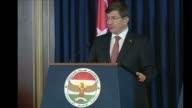 Turkish Prime Minister Ahmet Davutoglu met on Friday with Kurdish Regional Government President Masoud Barzani at the presidential palace in Arbil