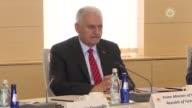 Turkish Prime Minister Binali Yildirim and Georgian Prime Minister Giorgi Kvirikashvili attend highlevel Strategic Cooperation Council meeting at...