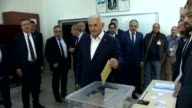 Turkish Prime Minister Binali Yildirim casts his ballot for the constitutional referendum at a polling station in Izmir Turkey on April 16 2017 More...