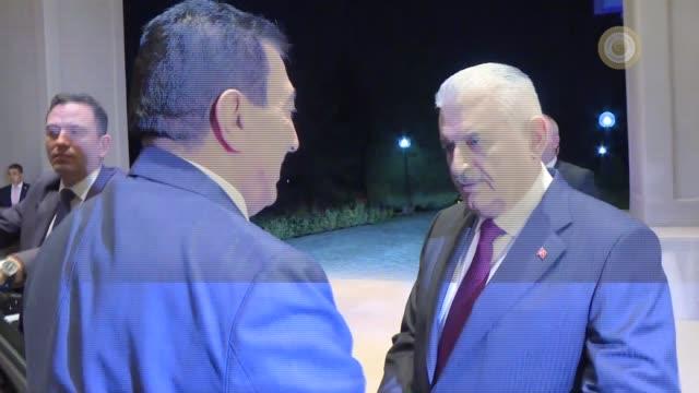 Turkish Prime Minister Binali Yildirim meets with a committee accompanying Speaker of the House of Representatives of Jordan Atef Tarawneh at Cankaya...