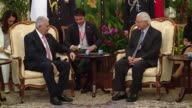 Turkish Prime Minister Binali Yildirim meets with Singapore's President Tony Tan Keng Yam at the Istana Presidential Palace in Singapore on August 21...