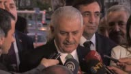 Turkish Prime Minister Binali Yildirim speak about decision of PACE [the Parliamentary Assembly of the Council of Europe] about to monitor Turkey in...