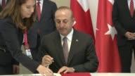 Turkish Prime Minister Binali Yildirim Turkish Justice Minister Bekir Bozdag Turkish Economy Minister Nihat Zeybekci Turkish Foreign Minister Mevlut...