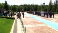 Turkish Prime Minister Yildirim welcomes his Bulgarian counterpart Boyko Borisov with an official ceremony at Cankaya Palace in Ankara Turkey on June...