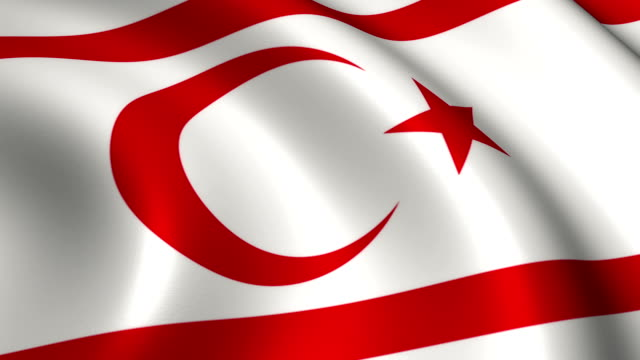 Turkish Republic of Northern Cyprus Flag Loopable
